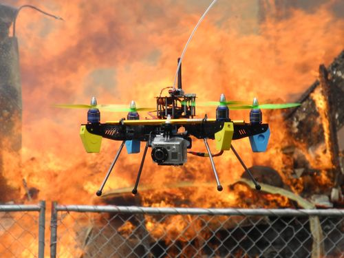 Firefighters Using Drones to Assist Efforts
